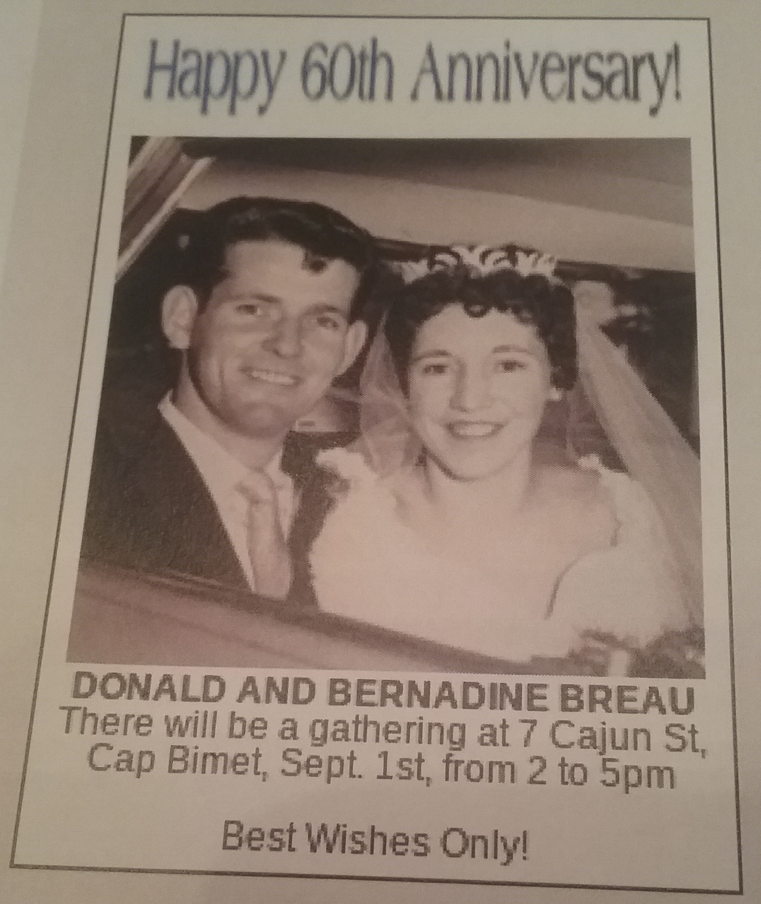 Don and Bernie Breau Anniversary